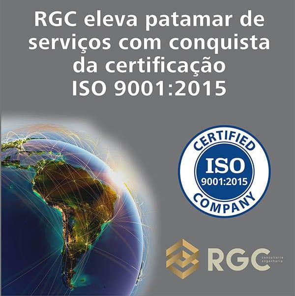 RGC eleva patamar de serviços com conquista da certificação ISO 90012015